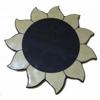 Зеркало из обсидиана в форме солнца, диаметр 22 см