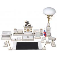 «Петр Первый» царский набор из белого мрамора