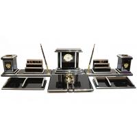 «Юлий Цезарь» солидный настольный набор с золотистой отделкой в подарок руководителю