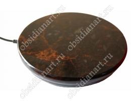 Мощная беспроводная зарядка из полудрагоценного камня обсидиан, 10 Вт