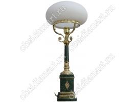 Шикарная настольная лампа из мрамора «Русь»