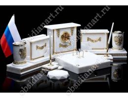 Набор письменных принадлежностей из мрамора «Стиляга»