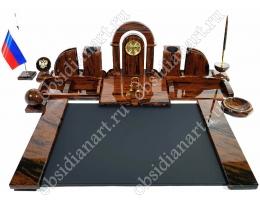 Набор руководителя «Благородный» из обсидиана с накладкой на стол