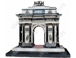 Триумфальная арка Москвы, макет из полудрагоценных камней и бронзы