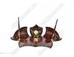 Настольный набор из яшмы «Летучая мышь»