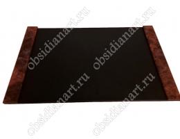 Накладка (бювар, подложка, коврик) на стол руководителя из кожи и камня. Отправка в любой регион России!