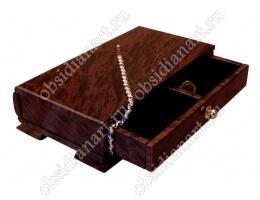 Шкатулка «Стеллаж» из полудрагоценного камня обсидиан