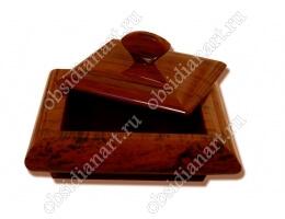 Шкатулка «Оригинал» из обсидиана для ювелирных изделий