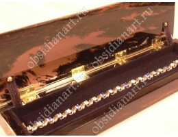 Шкатулка «Браслет» из обсидиана для ювелирных украшений