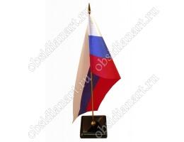 Флаг России настольный на подставке из камня «Классический»