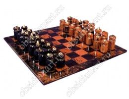 Шахматы «Абстрактные» маленькие (обсидиан)