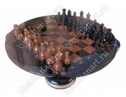 Шахматы из обсидиана «Гармония»
