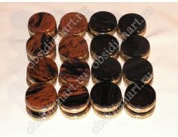 Игровые камни из бронзы и полудрагоценного камня обсидиан