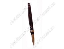 Каменная ручка для руководителя (обсидиан)