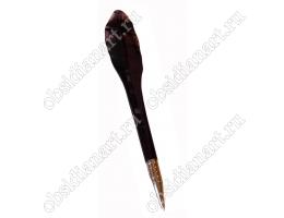 Ручка абстрактной формы из камня обсидиан
