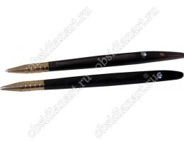 Ручка с цирконом (камень обсидиан)