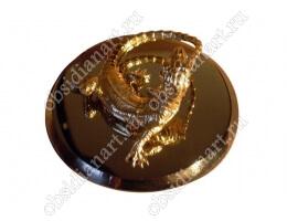 Статуэтка «Ящерица» из бронзы и обсидиана