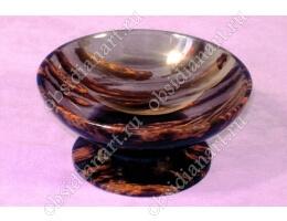 Салатница «Изюм» из полудрагоценного камня обсидиан