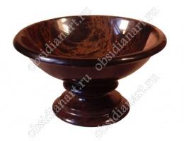 Чаша «Мороженое» из полудрагоценного камня обсидиан