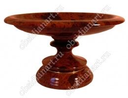 Ваза для фруктов «Обилие» из полудрагоценного камня обсидиан
