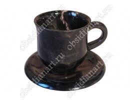 Чашка «Кофе» из полудрагоценного камня обсидиан
