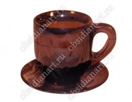 Чашка «Мак» из полудрагоценного камня обсидиан