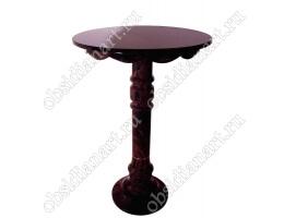 Стол из натурального камня обсидиан