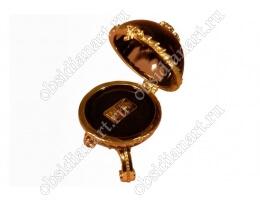 Шкатулка «Золотая валюта» из обсидиана