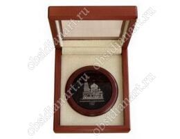 Сувенирная медаль-2 (камень) из полудрагоценного камня обсидиан