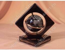 Сувенир «Обсидиановый глобус»