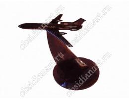 Сувенир «Самолет» из натурального камня обсидиан