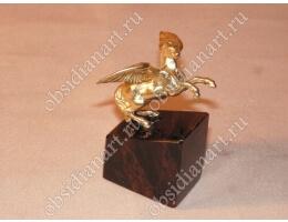 Статуэтка «Пегас» из бронзы и обсидиана