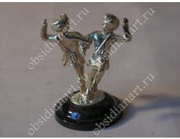 Статуэтка «Танцующие» из бронзы и обсидиана