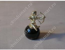 Статуэтка «Стрелец» из бронзы и обсидиана