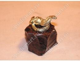 Статуэтка «Змея» из бронзы и обсидиана