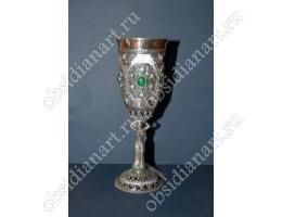 Серебряный бокал с ножкой в форме девушки, арт. f-003