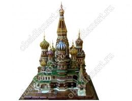 Макет храма Василия Блаженного из полудрагоценных камней и золота высотой 80 см