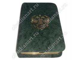 Подарочный внешний диск из натурального мрамора в форме книги