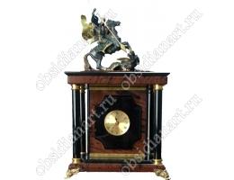 Часы-сейф «Премиальный», настольный из полудрагоценного камня обсидиан