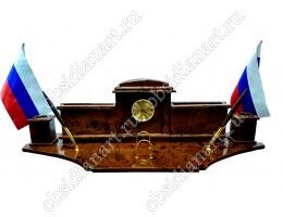 Настольный набор для руководителя «Королевский-2» из обсидиана