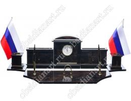 Офисный набор на стол руководителя «Королевский-3» из обсидиана