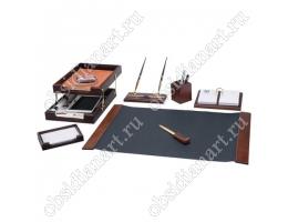 Канцелярский набор для рабочего стола руководителя, дерево, 1236356