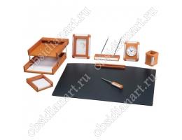 Светлый набор на стол руководителя из дерева, 1236385