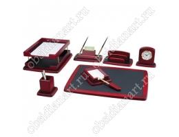 Офисный письменный набор руководителя, красное дерево, 1236390
