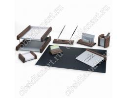 Офисный набор письменных принадлежностей, дерево, светлая вишня с текстурным покрытием, 1236402