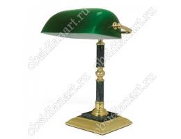 Настольный светильник из зеленого мрамора с золотистой отделкой, арт. 1231197