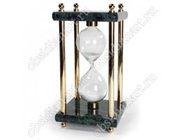 Песочные часы из зеленого мрамора с золотистой отделкой, арт. 1231504
