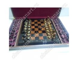 Шахматы из обсидиана «Классические»