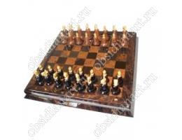 Шахматы «Мировая история» из обсидиана