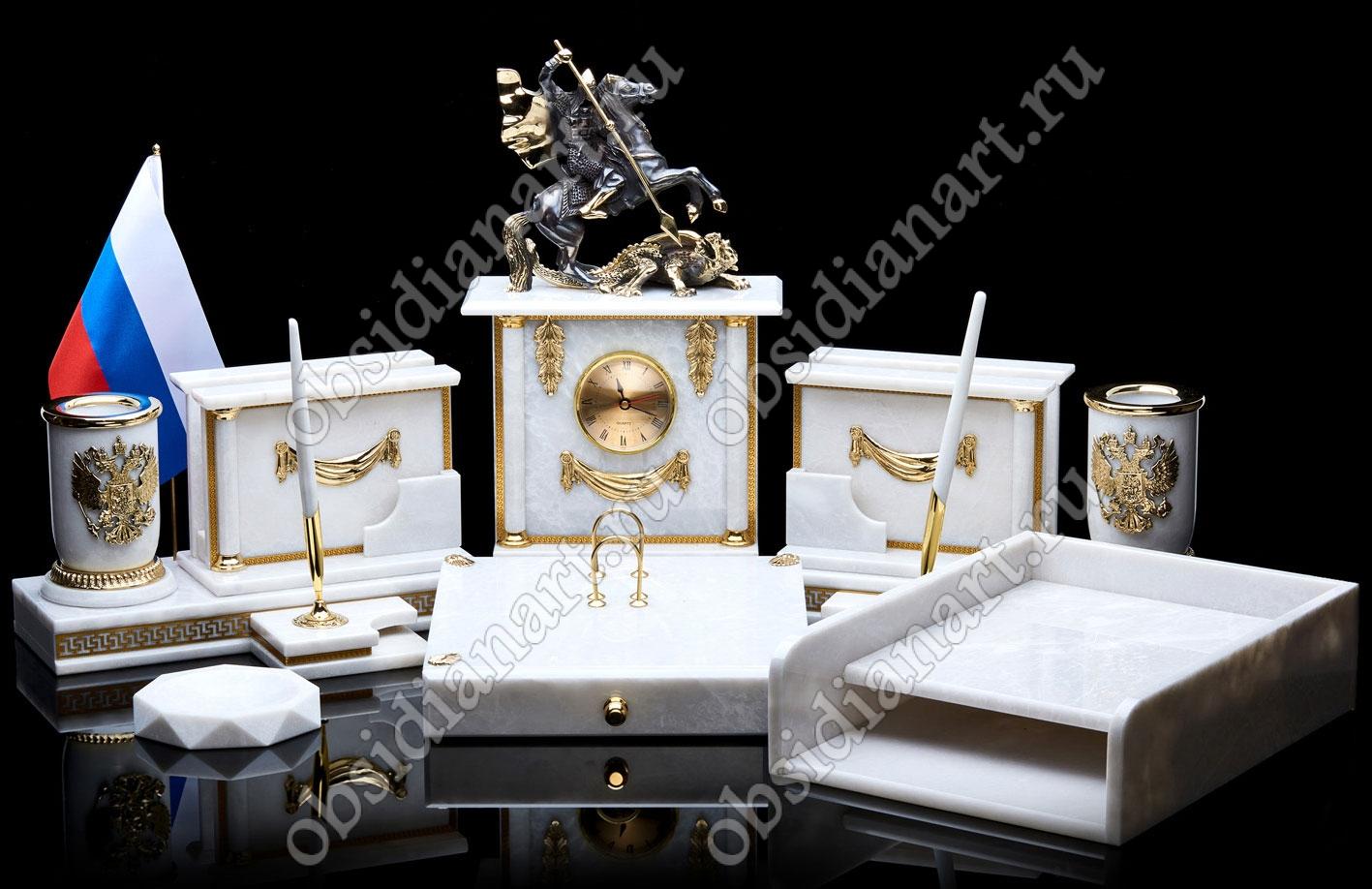 Офисный письменный набор для кабинета руководителя «Святой Георгий Великомученик»